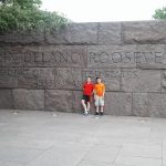 The entrance to the FDR Memorial
